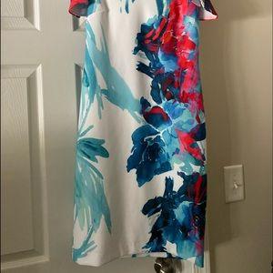 Joseph Ribkoff off shoulder dress floral size 8